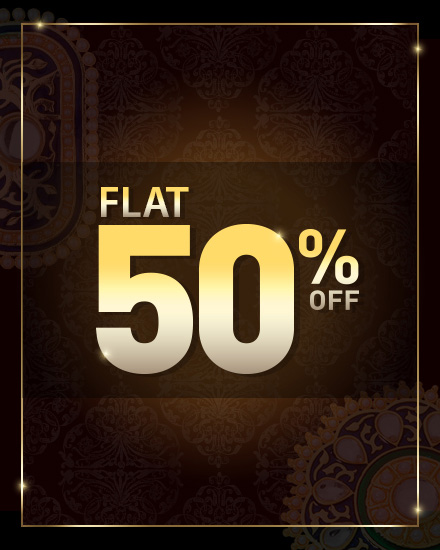 GET UPTO 50% OFF ON NECKLACE SETS - PRICE 500 50 % OFF