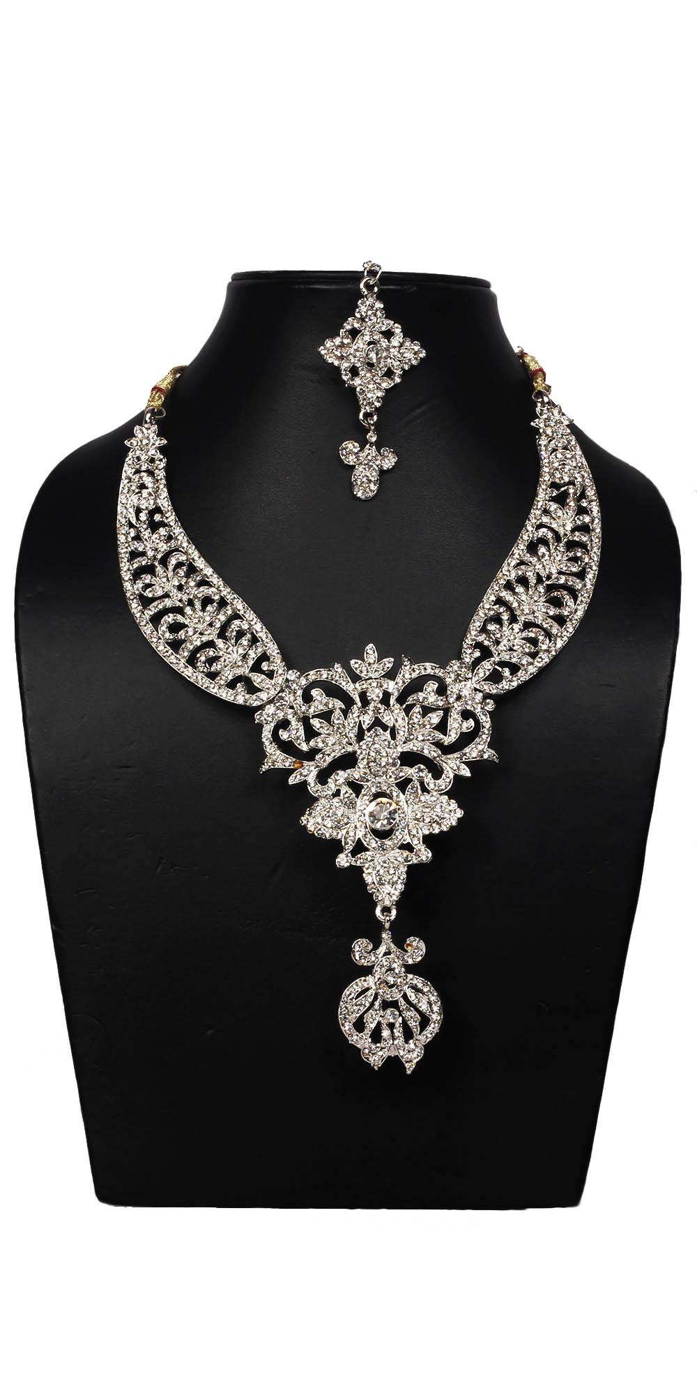 Buy Stunning Huge American Diamond Jewellery Set Online India   Voylla