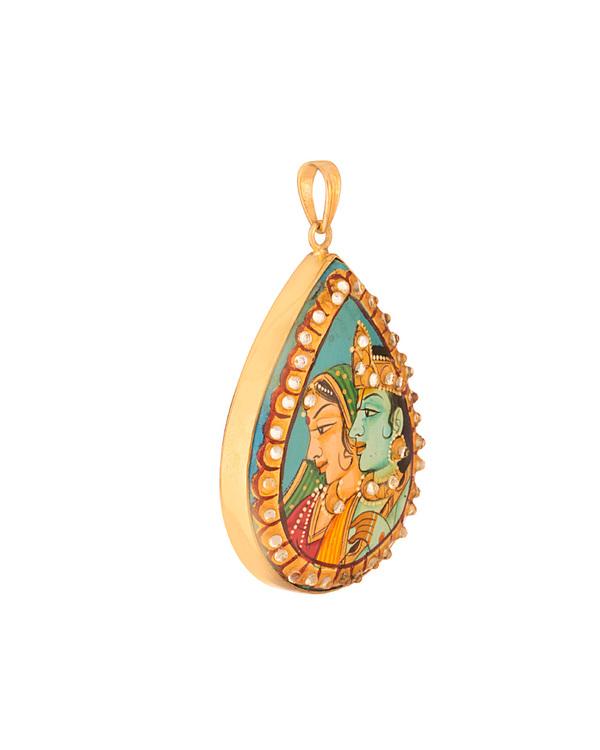 Buy designer pendants hand painted radha krishna pendant online voylla hand painted radha krishna pendant aloadofball Choice Image