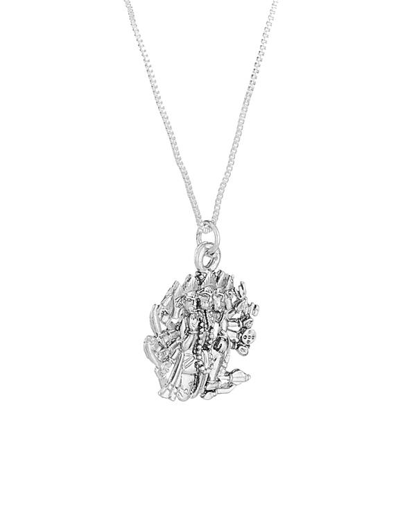 Buy designer mens pendants panchmukhi hanuman religious silver toned panchmukhi hanuman religious silver toned pendant aloadofball Choice Image