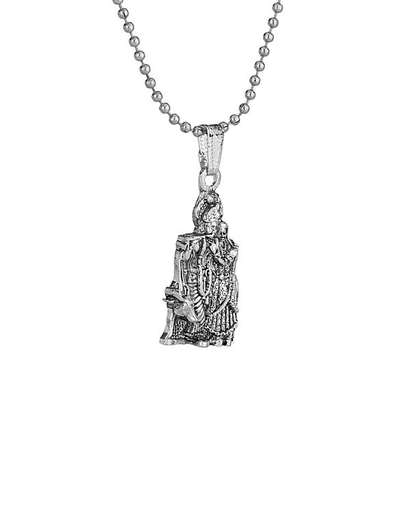 Buy designer mens pendants divine radha krishna chain pendant online divine radha krishna chain pendant aloadofball Choice Image