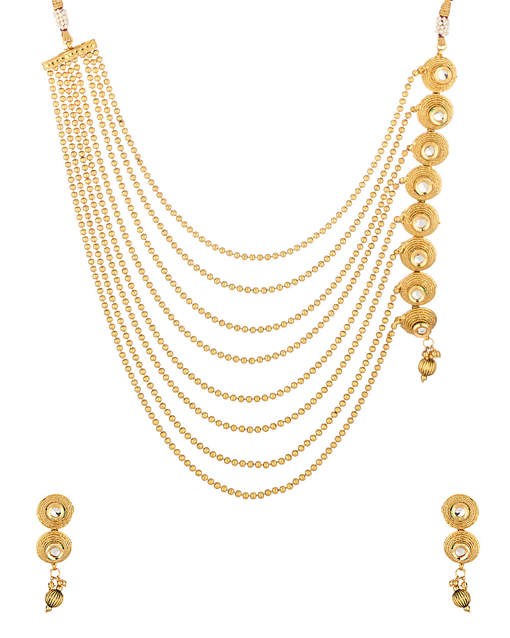 Buy Traditional Gold Tone Necklace Set Online India | Voylla