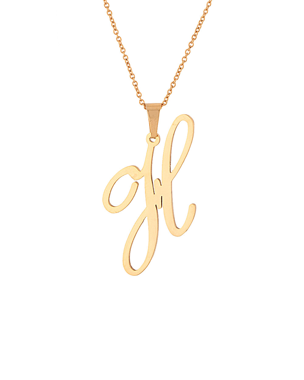 Buy stylish gold toned h shape alphabet pendant with chain stylish gold toned h shape alphabet pendant with chain mozeypictures Images