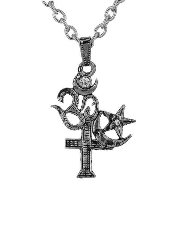 Buy Designer Mens Pendants Secular India All Religion Symbol Pendant