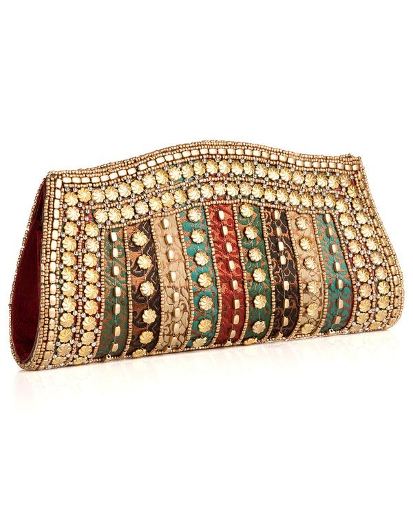 839060d8e3a Buy Designer Clutches Fashionable Multicoloured And Beaded Clutch ...