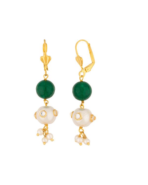 940045d3b8c4d Gorgeous Gold Tone Mala Necklace Set Embellished With Multi Color Stones