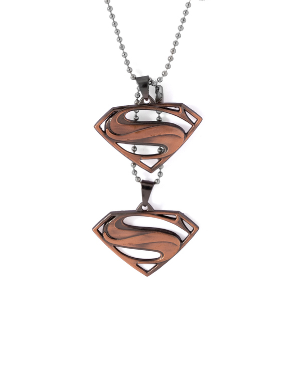 Buy designer mens pendants dashing double superman pendant with dashing double superman pendant with chain mozeypictures Gallery