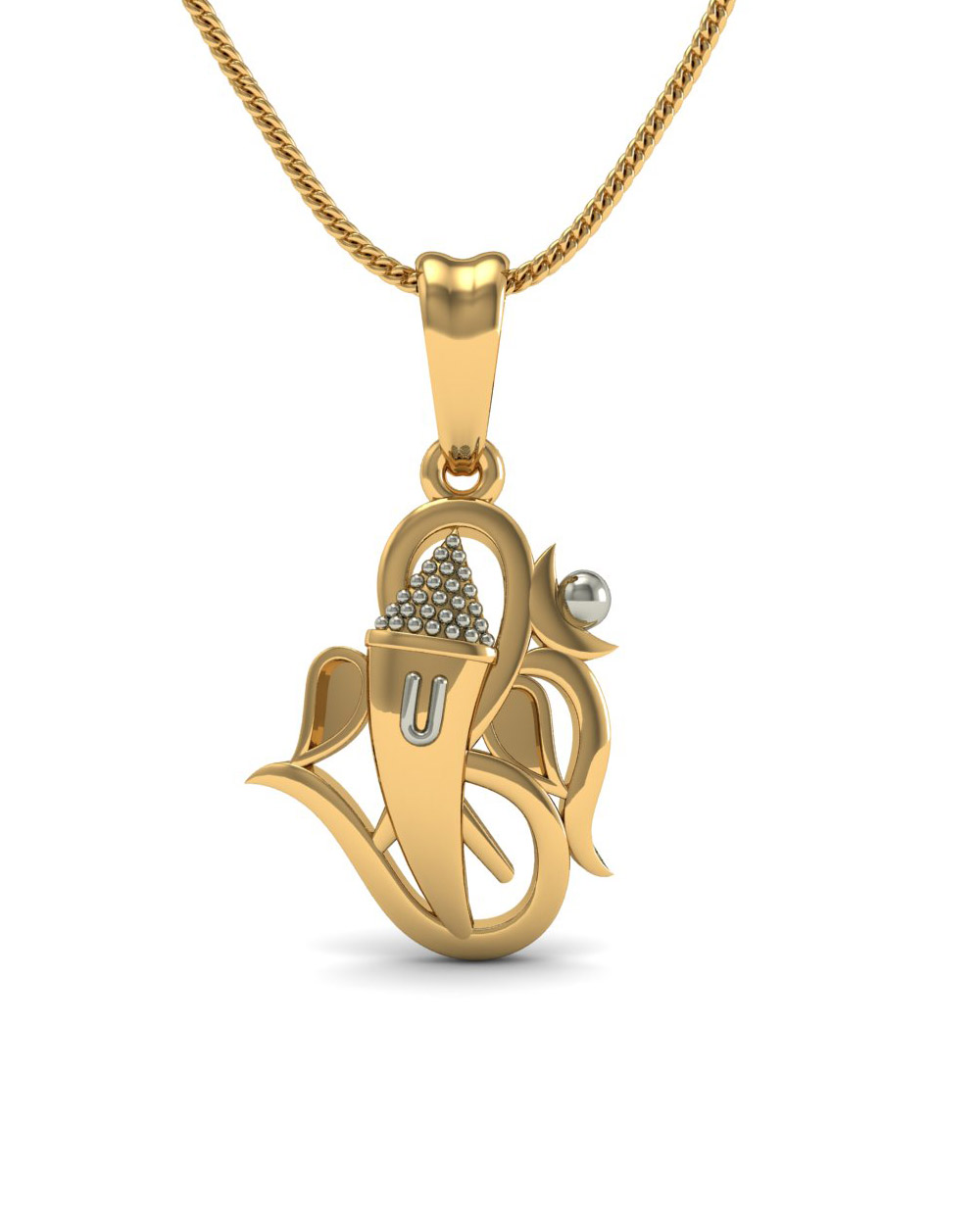 Buy 14k gold lord ganesha pendant without chain online india voylla 14k gold lord ganesha pendant without chain aloadofball Gallery