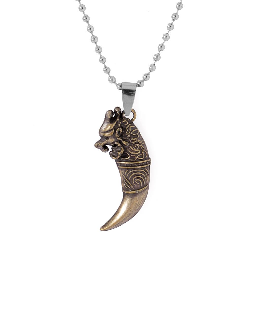 Buy lions nail pendant with chain online india voylla lions nail pendant with chain mozeypictures Image collections