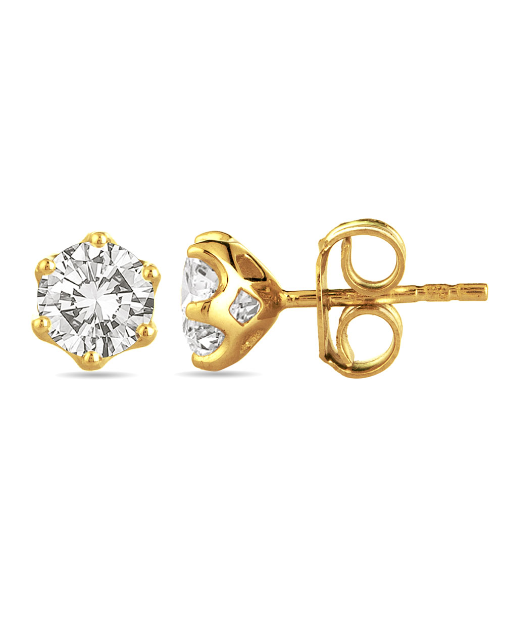 with moissanite gold mothers mm studs stud earrings day rou gift unique
