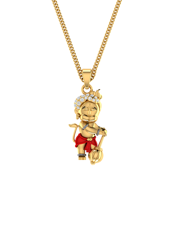 Buy designer pendants real diamonds adorned 14k yellow gold bal real diamonds adorned 14k yellow gold bal hanuman pendant without chain aloadofball Image collections
