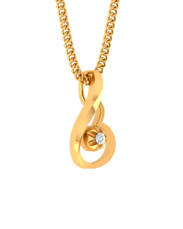 Buy designer pendants 14k gold pendant embellished with real diamond 14k gold pendant embellished with real diamond aloadofball Image collections