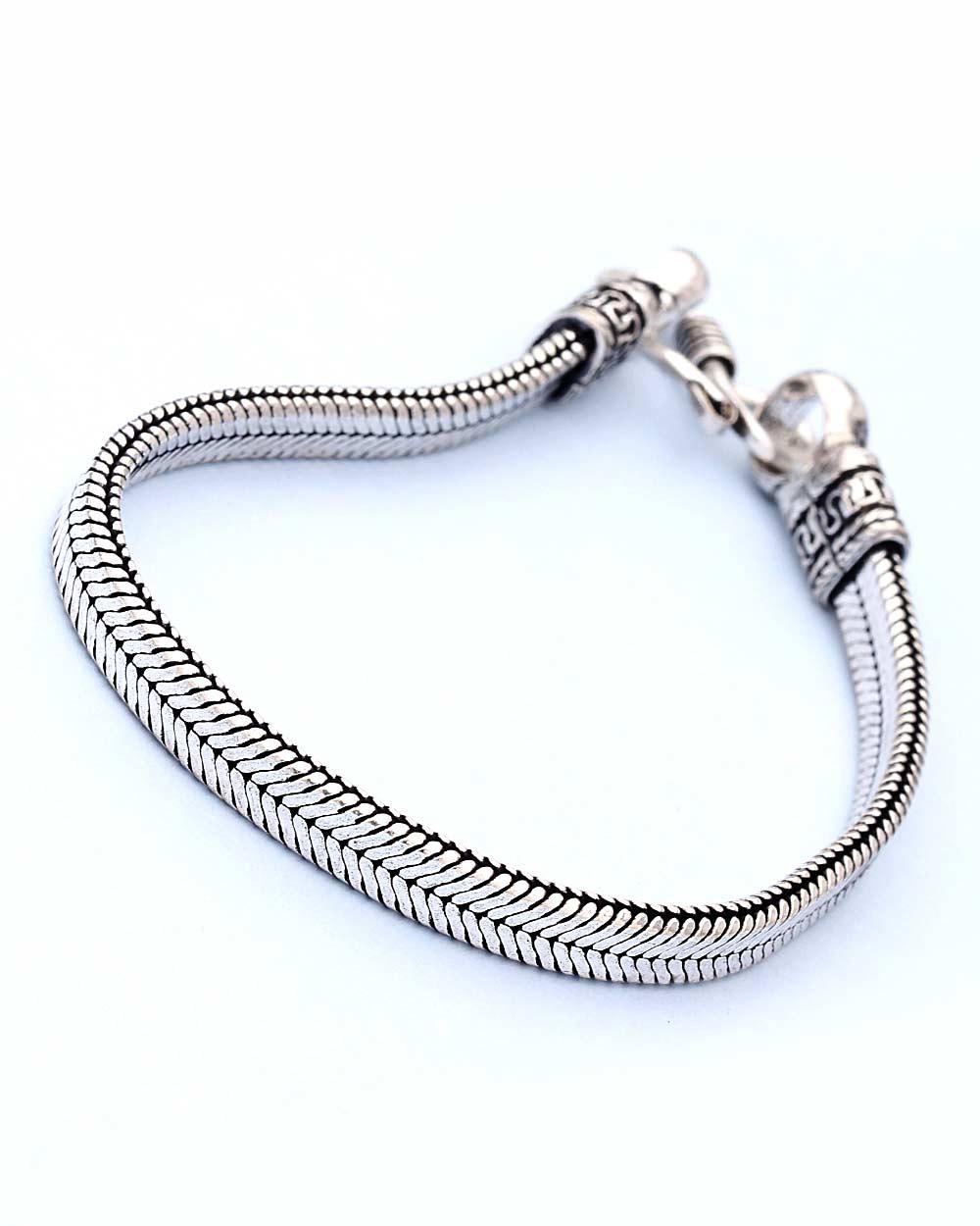 Oxidized Silver Bracelet Featuring Simple & Smart Look | Buy ...