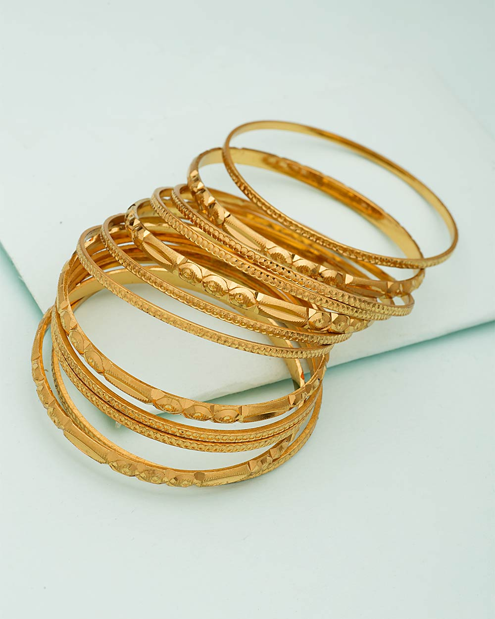 Gold Plated Bangles Set of 12 | Buy Designer & Fashion Bracelets ...