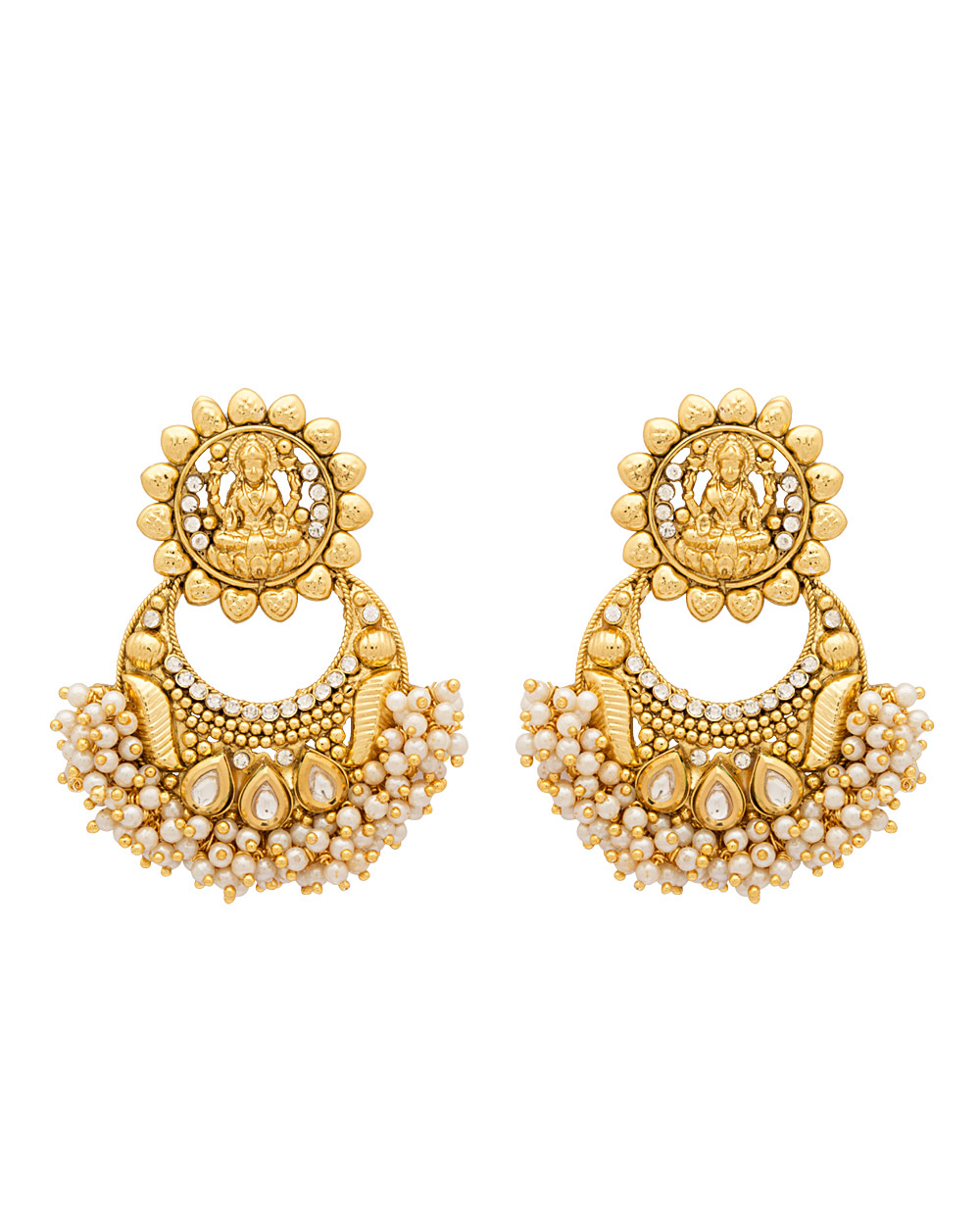 Classic Pair Of Earrings With Pearl Beads Bunch | Buy Designer ...
