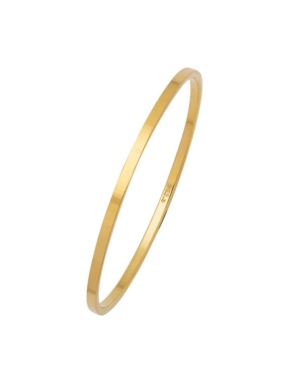 Plain Gold Plated 925 Sterling Silver Bangles