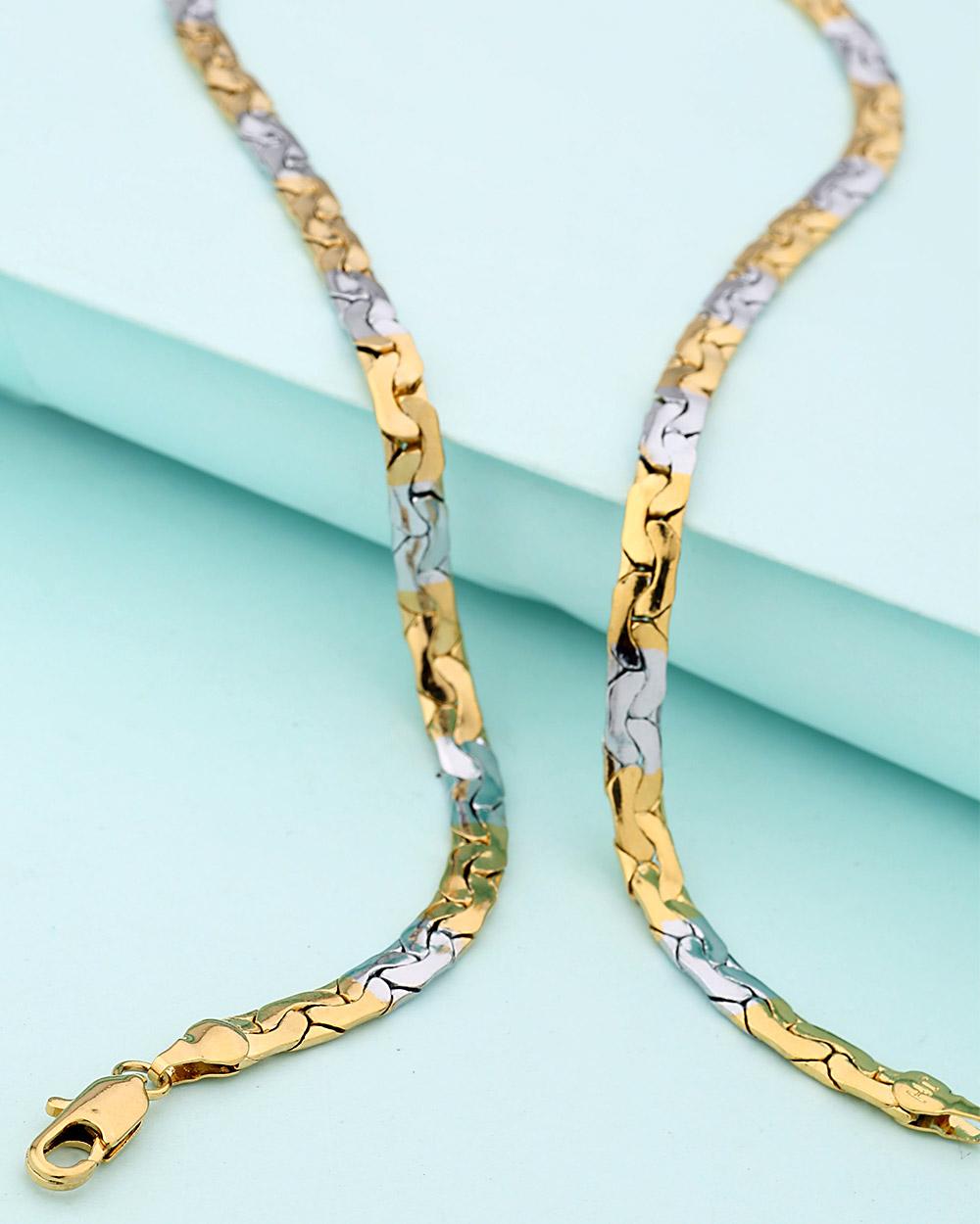 Dual Tone Stylish Designer Chain For Men | Buy Designer & Fashion ...