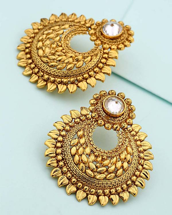 Buy Designer Earrings Chandbali Designer Earrings Online Voylla