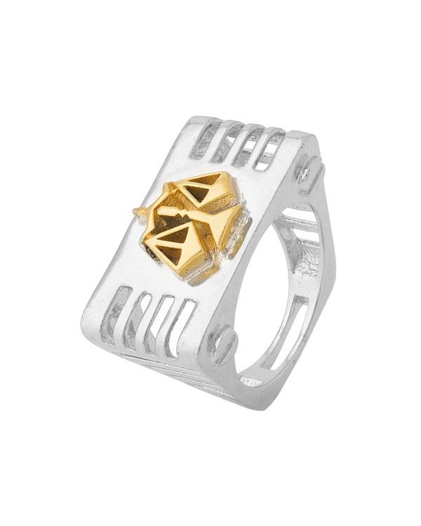 Libra Rashi Symbol Designed Ring For Men