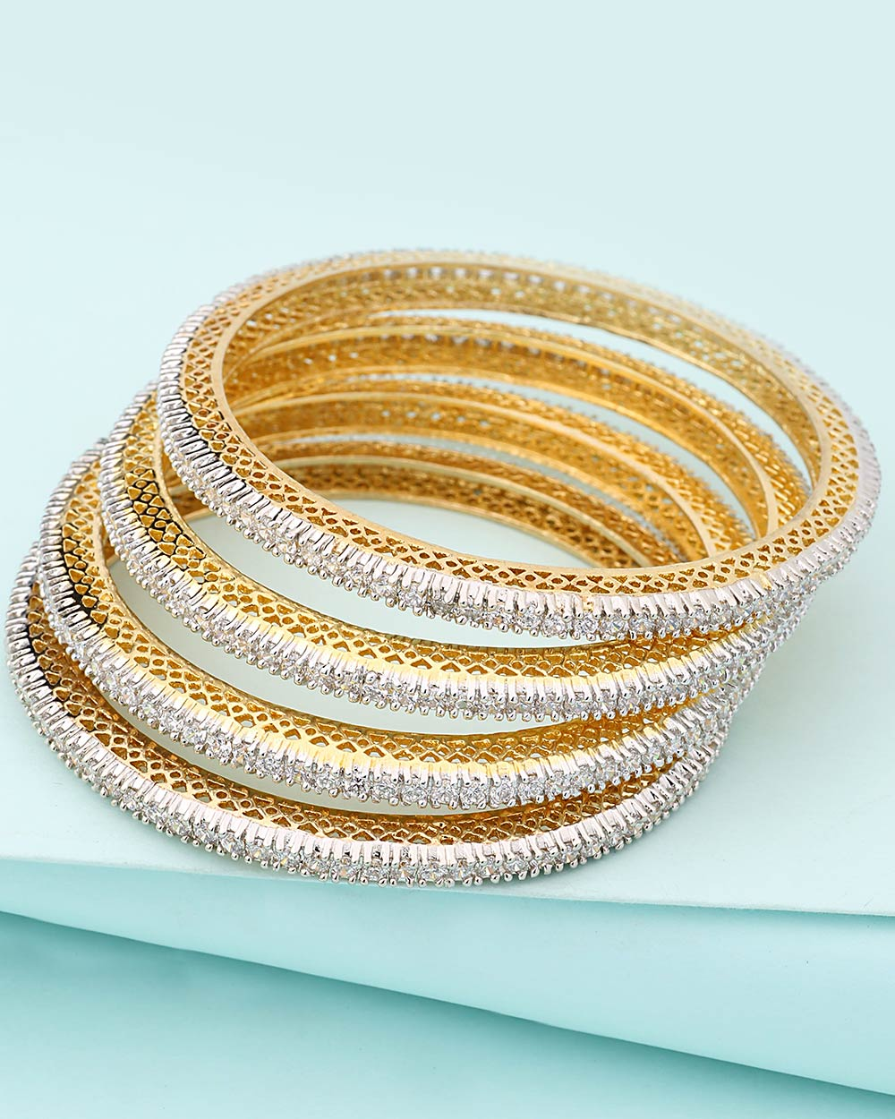 Beautiful Studded Bangles with Nickel Plating | Buy Designer ...