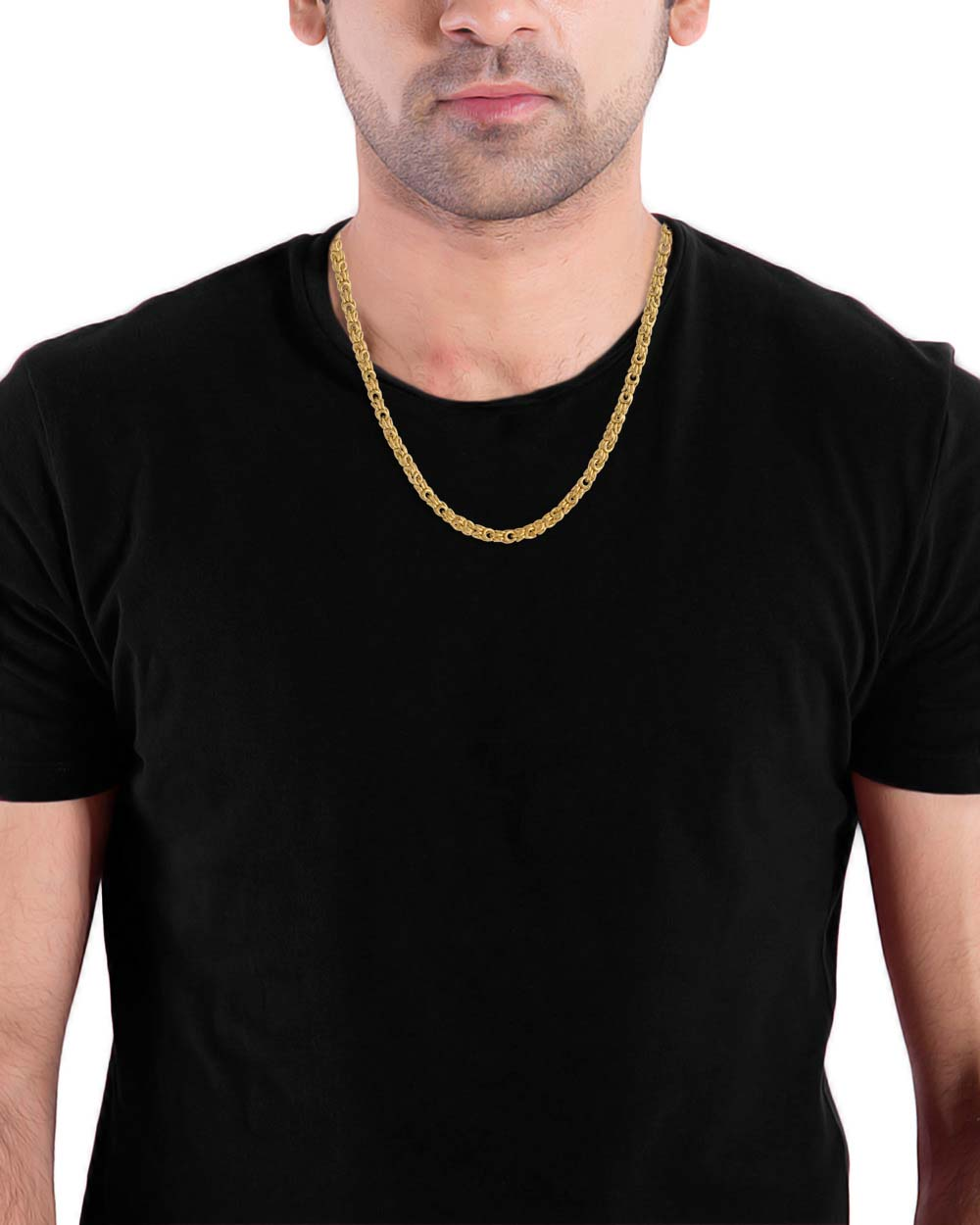 Buy Round Link Design Gold Plated Chain For Men Online India | Voylla