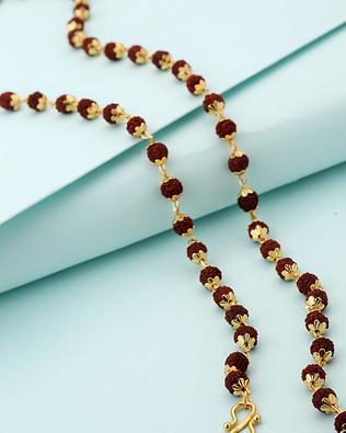 Buy Gold Plated Rudraksha Chain For Men Online India Voylla