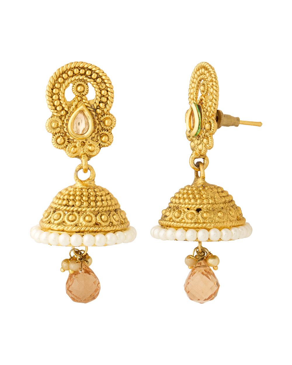 Buy Traditional Jhumka Earrings with Lovely Gold Plating Online ...