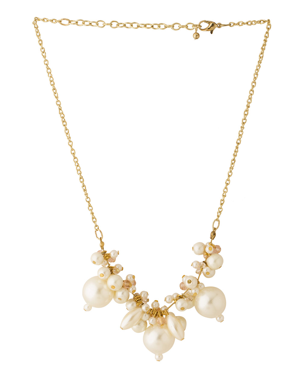 Buy Pearl Bead Necklace With Golden Chain Online India | Voylla