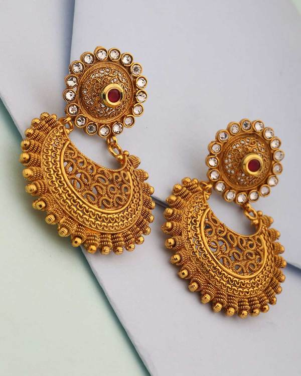 Buy Designer Earrings Earring Pair In Chandbali Design Online Voylla