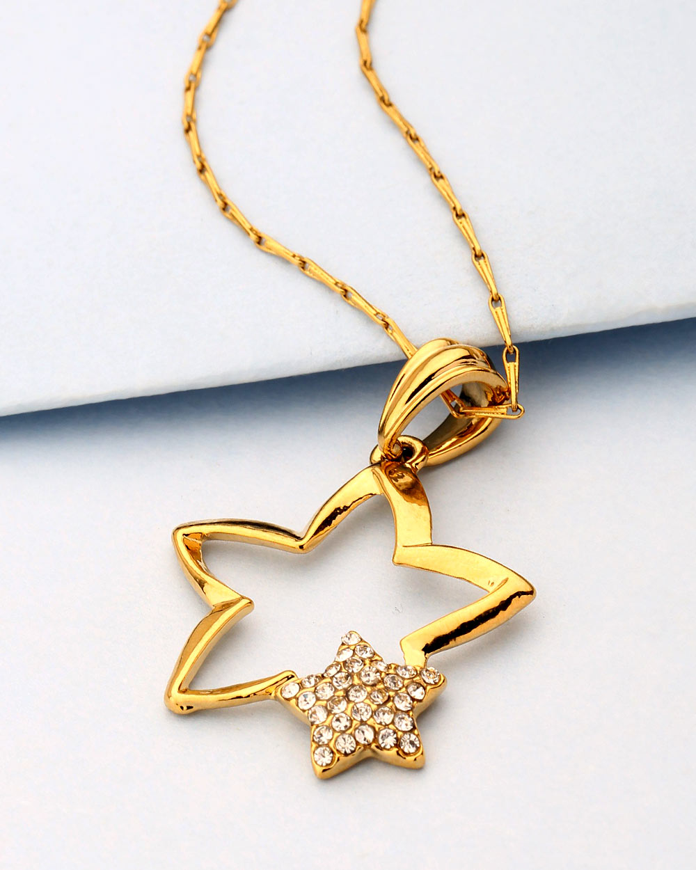 Buy Charming Star Design Pendant with Chain For Women Online India ...