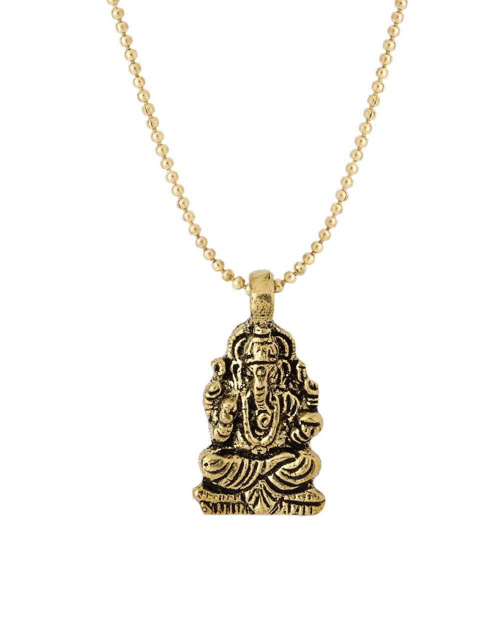 Buy ganesh pendant with chain for men in oxidised gold plating ganesh pendant with chain for men in oxidised gold plating aloadofball Gallery