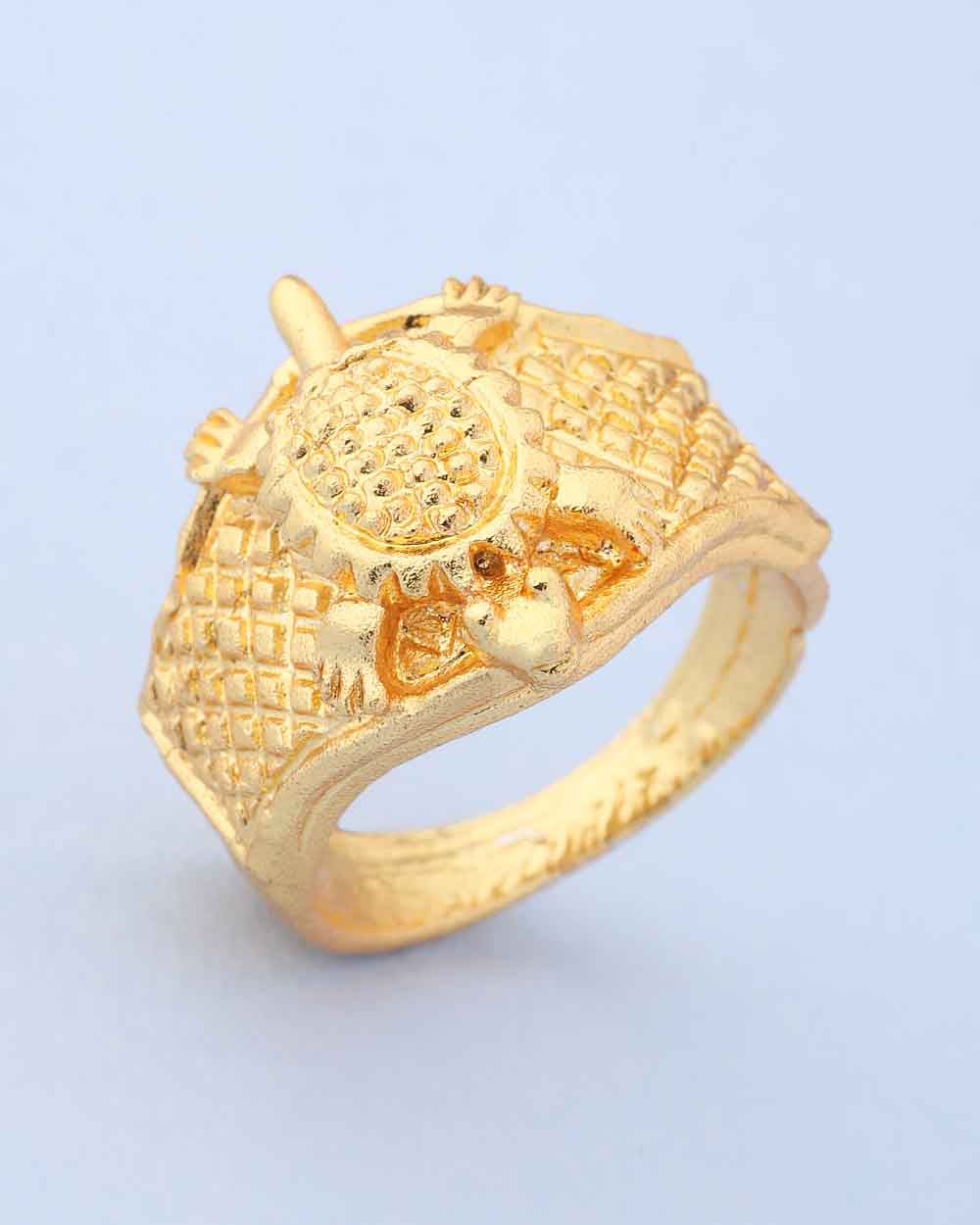Buy Tortoise Designer Golden Bold Ring For Men Online India | Voylla