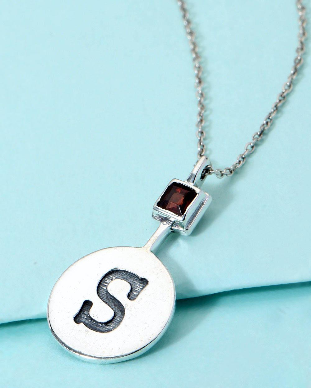 Buy Alphabet \'S\' Motif Pendant With Chain Online India   Voylla