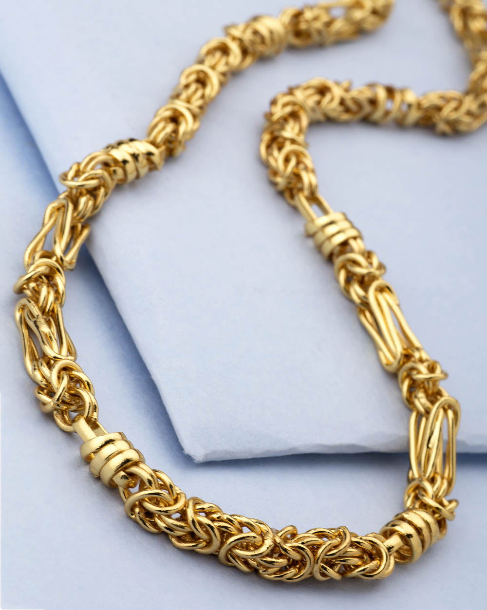 Buy Gold Plated Chain For Men In Stylish Interlink Design Online ...