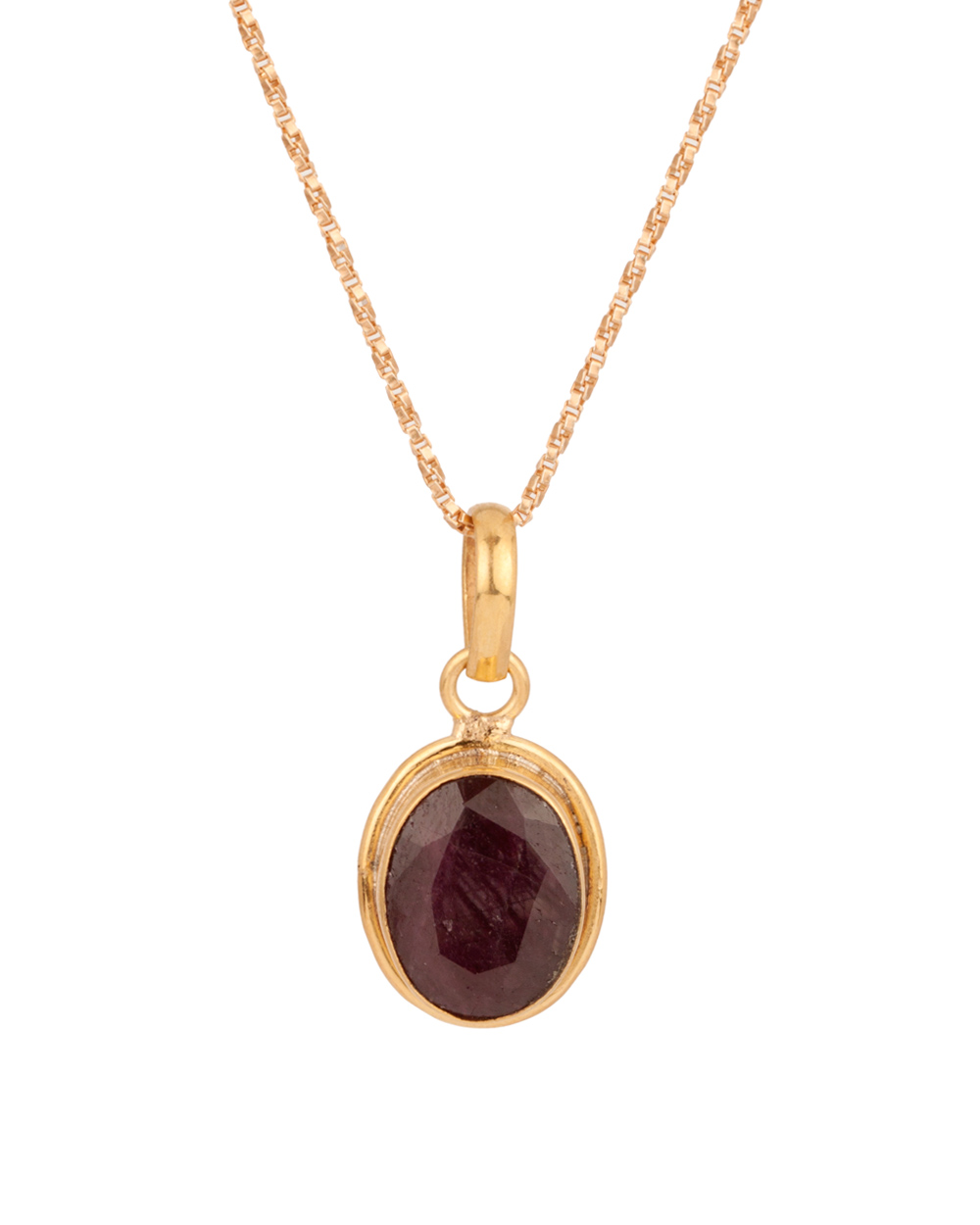 Buy gold tone oval ruby stone pendant online india voylla gold tone oval ruby stone pendant aloadofball Images