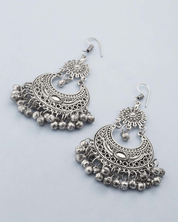 Buy Designer Earrings Classy Chandbali Earrings With Oxidized
