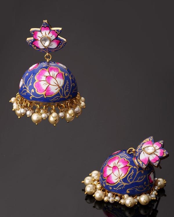 Designer Earrings Diwan I Khas Spring Is In The Air Meenakari Jhumka Online Voylla
