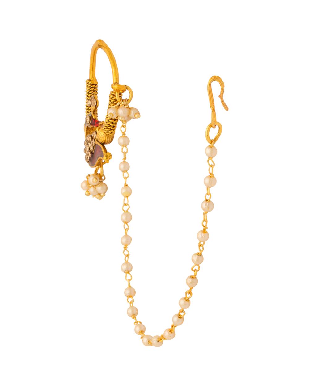 Exclusive Peacock Designer Nath Ring For Women | Buy Designer ...