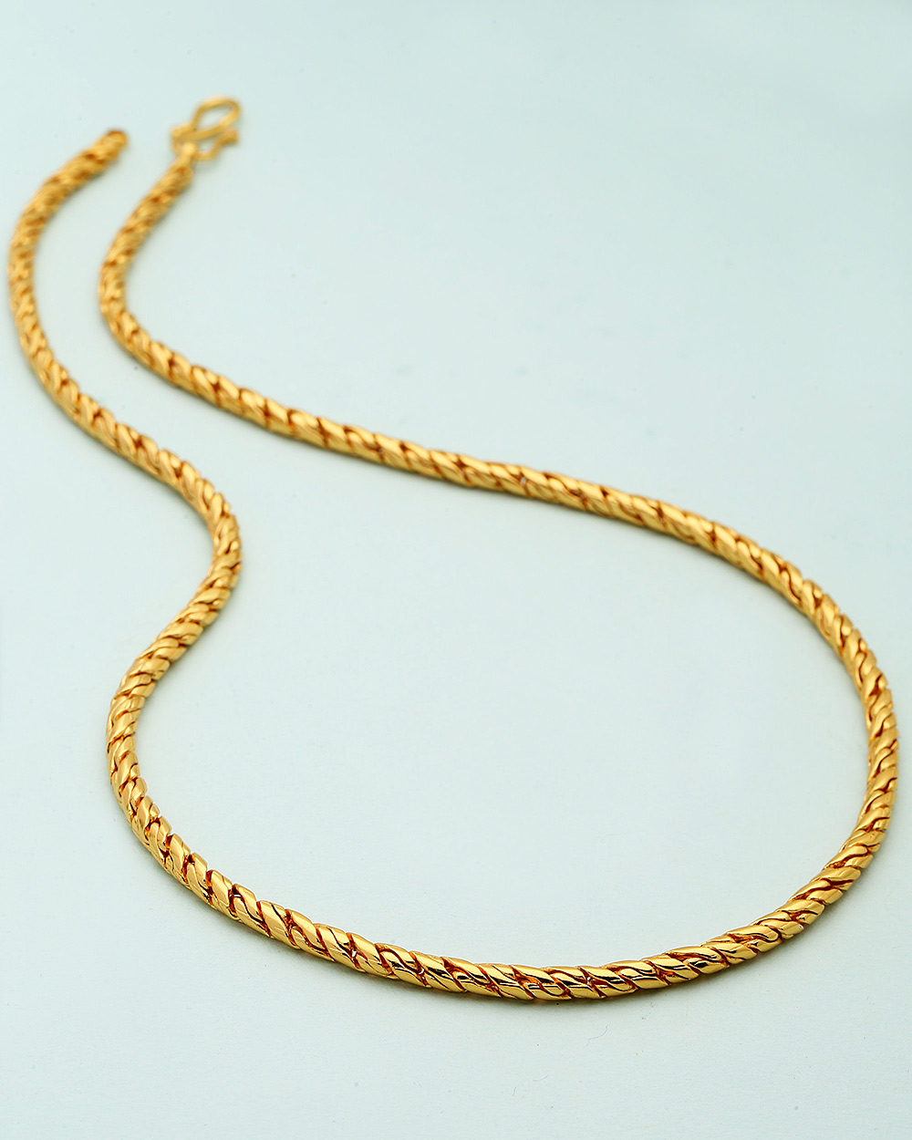 Buy Snake Designer Sleek Yellow Gold Chain Online India | Voylla
