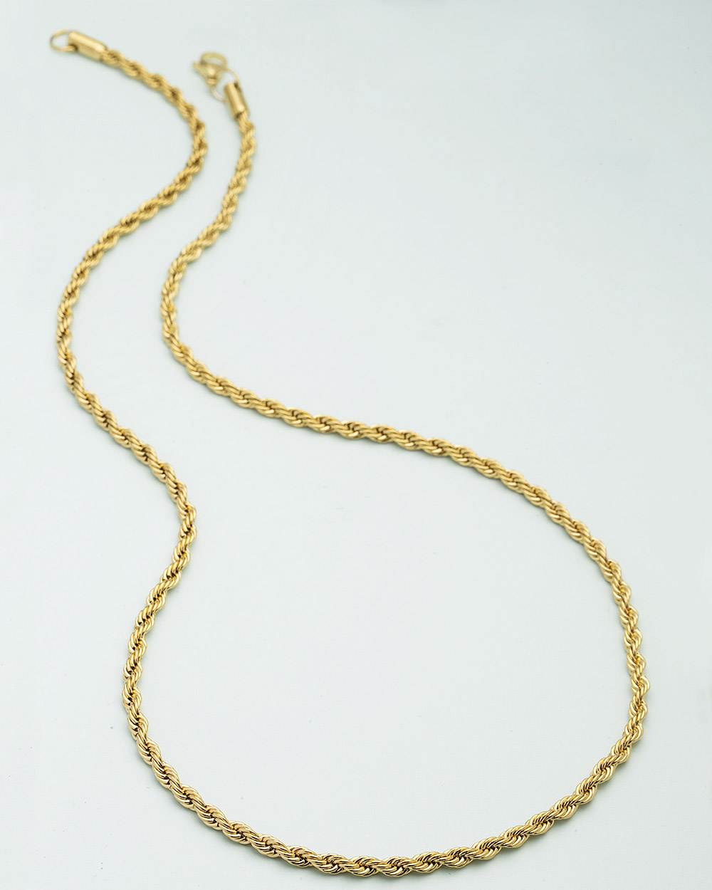 Buy Men\'s Chain In Curly Design In Yellow Gold Online India | Voylla