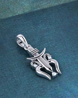 Buy mens silver pendant oxidised starling silver pendant for mens pendants trishul designer 925 sterling silver pendant without chain mozeypictures Gallery