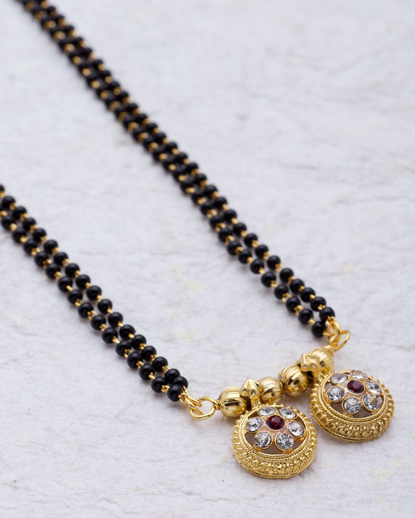 Double Beaded Vati mangalsutra For Women | VOYLLA Fashions