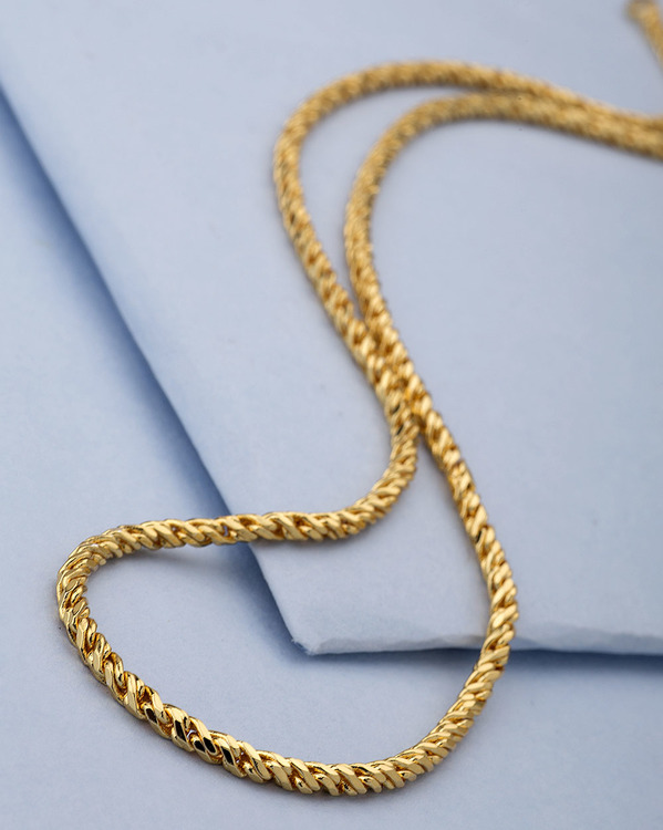 352cc5e57e86 Buy Designer Mens Chains Twisted Designer Yellow Gold Plated Chain For Men  Online