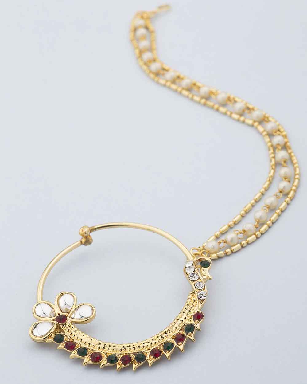 Buy Peacock Design Nose Ring For Women Online India | Voylla
