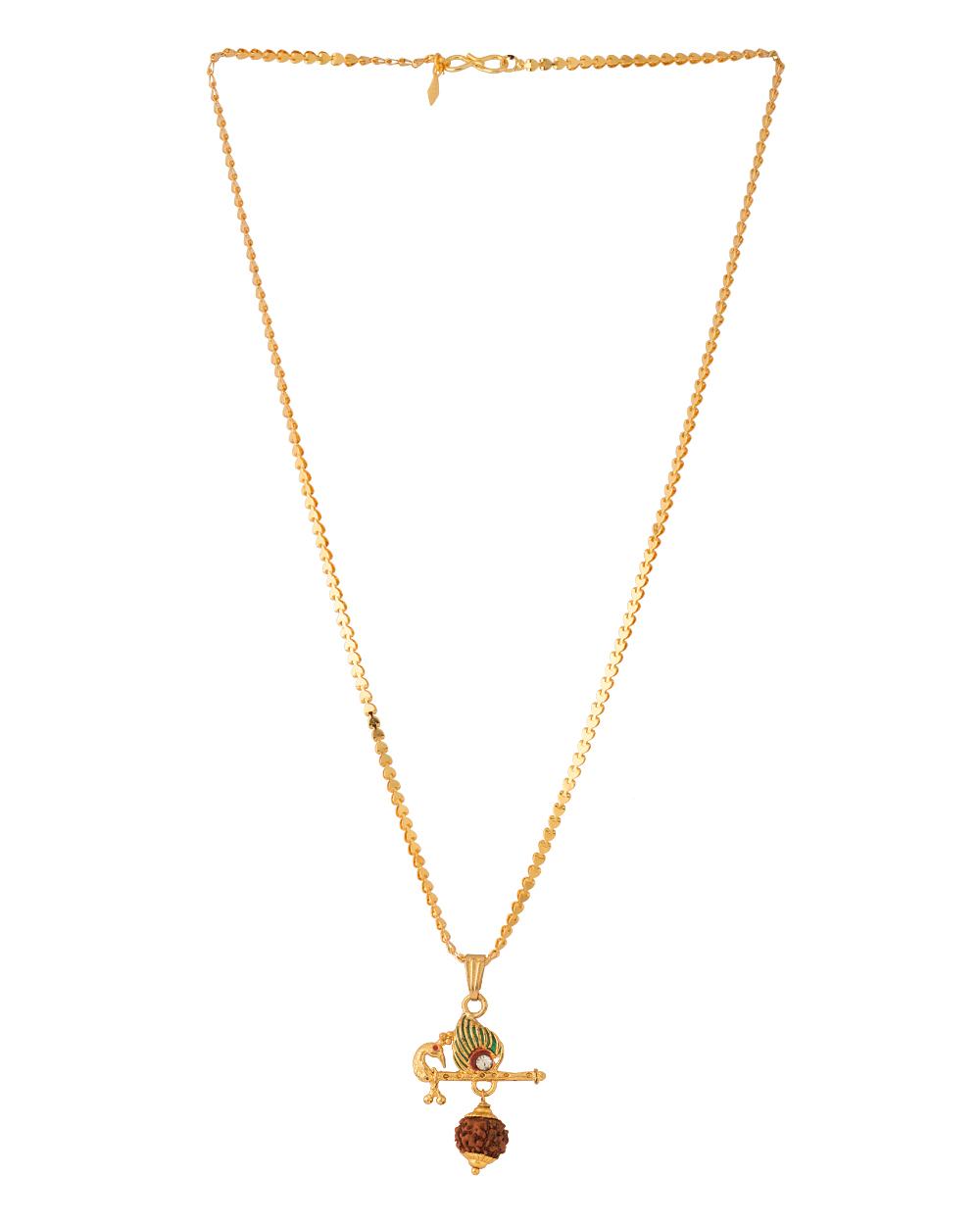 Buy krishna flute peacock feather designer pendant with chain krishna flute peacock feather designer pendant with chain mozeypictures Gallery
