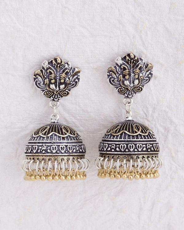 Designer Earrings Beautiful Traditional Style Jhumka Online Voylla