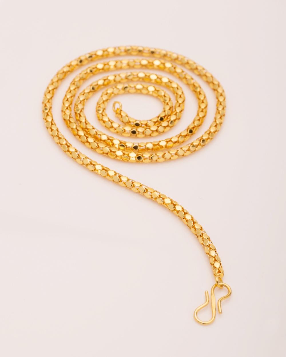 Buy Voylla Women\'s Yellow Gold Chain Online India | Voylla