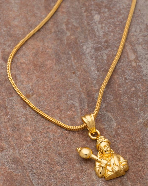 Gold Plated Divine Lord Hanuman Pendant