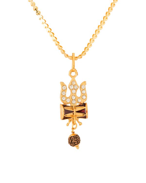 Buy trishul with damru designer pendant with chain for men online trishul with damru designer pendant with chain for men mozeypictures Image collections