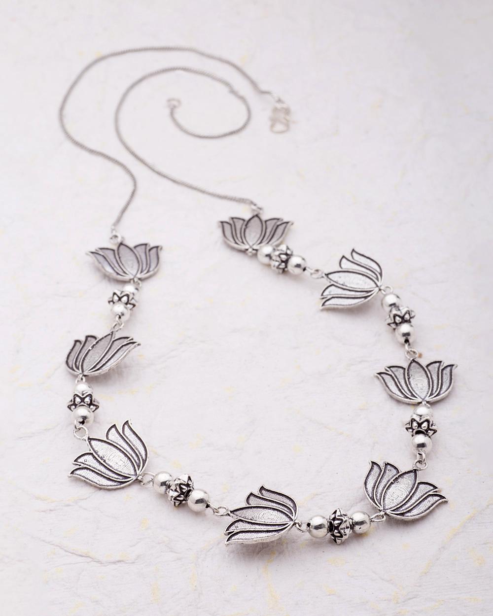 Designer Necklace with Lotus Details | Buy Designer & Fashion ...
